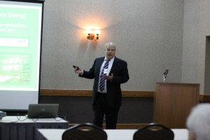 Executive Director Dan Dorman talks about the Greater Minnesota Partnership during a recent conference in Alexandria, Minn.