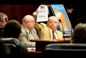 GMNP President Gary Evans and Executive Director Dan Dorman testify in support of broadband legislation.